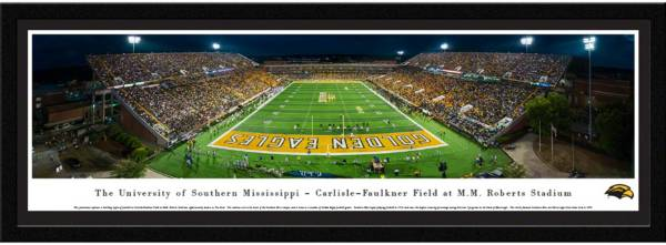Blakeway Panoramas Southern Miss Golden Eagles Framed Panorama Poster product image