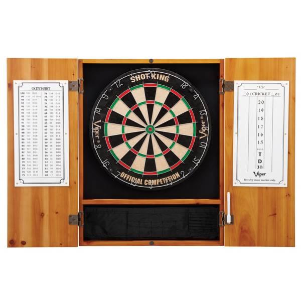 Viper Shot King Sisal Fiber Dartboard and Cabinet Bundle product image