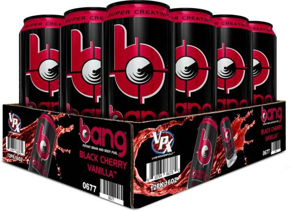 Bang Super Creatine Energy Drink Black Cherry Vanilla 12-Pack Case product image