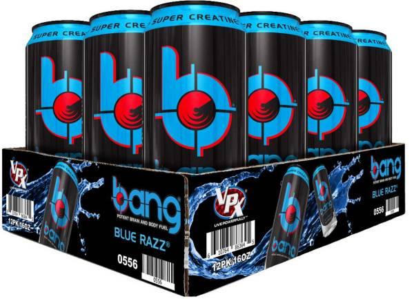 Bang Super Creatine Energy Drink Blue Razz 12-Pack Case product image