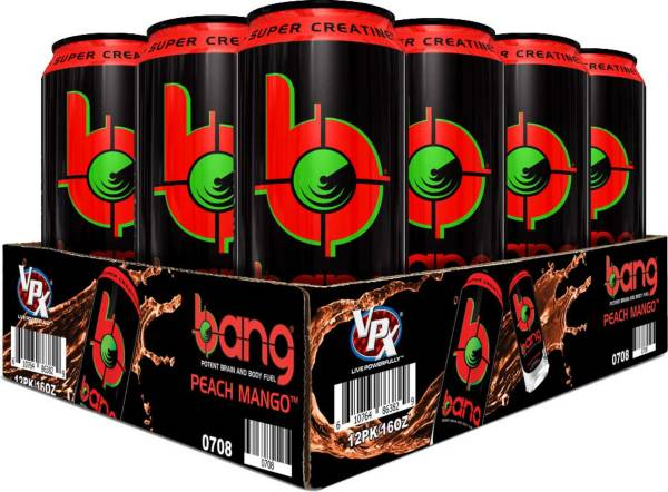 Bang Super Creatine Energy Drink Peach Mango 12-Pack Case product image