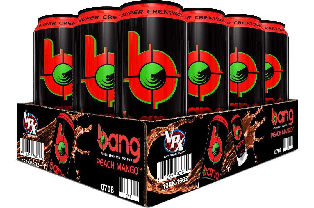 Bang Super Creatine Energy Drink Peach Mango 12-Pack Case