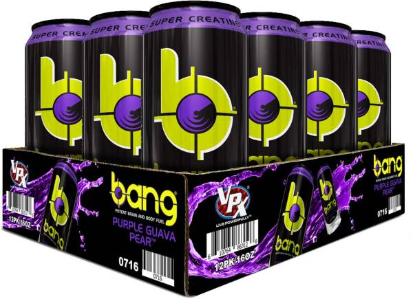 Bang Super Creatine Energy Drink Purple Guava Pear 12-Pack Case product image
