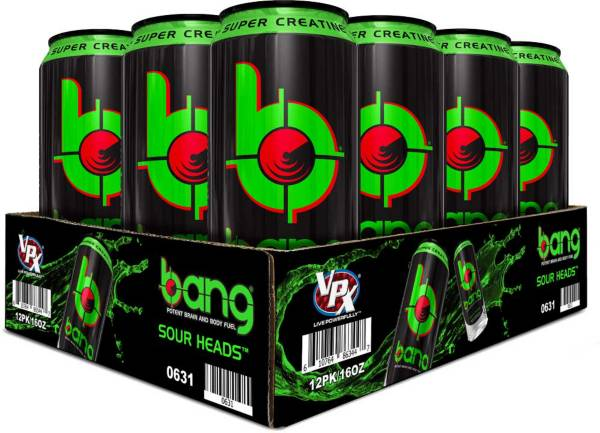 Bang Super Creatine Energy Drink Sour Heads 12-Pack Case product image