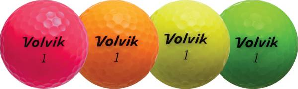 Volvik 2018 Crystal Personalized Golf Balls – Pink/Orange/Yellow/Green product image