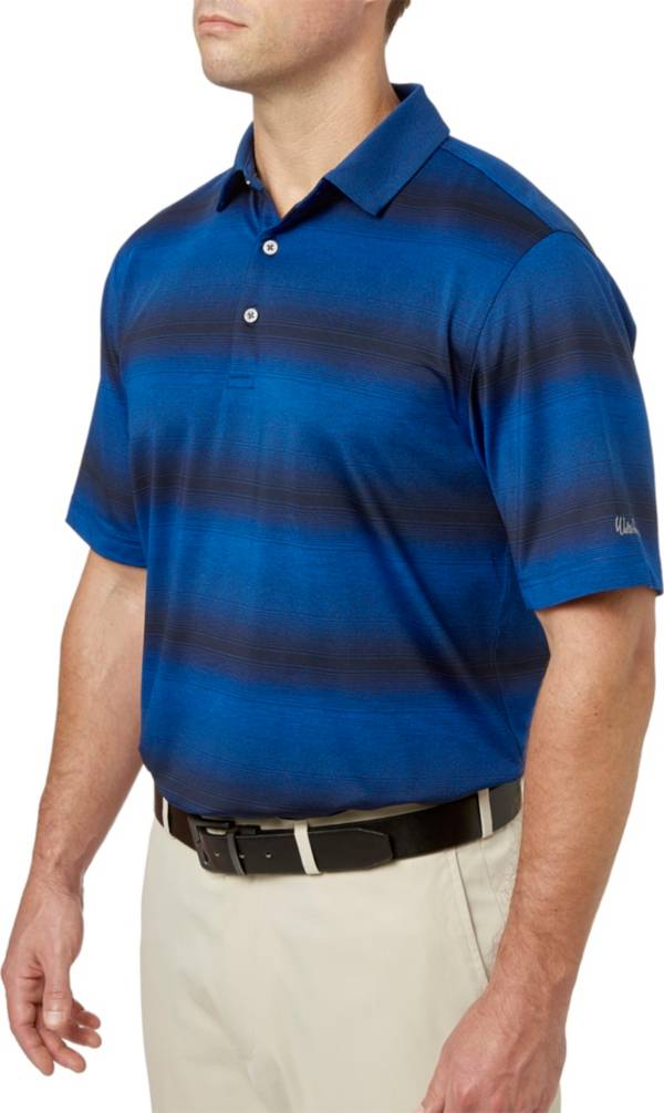 Walter Hagen Men's Gradient Wide Stripe Golf Polo product image
