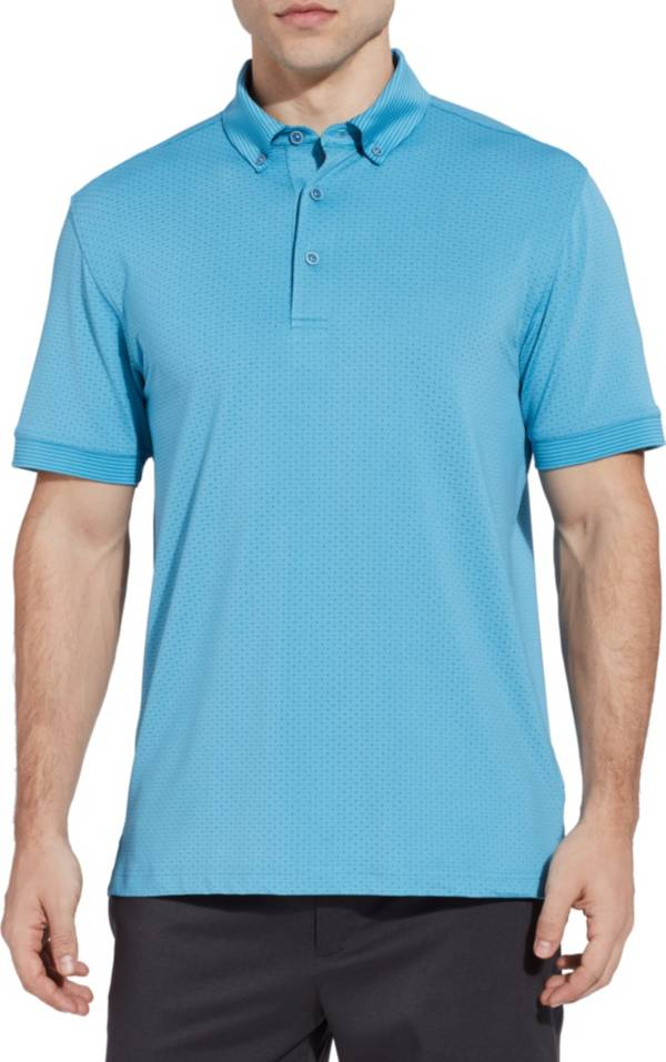 Walter Hagen Men's Polka Dot Stripe Lifestyle Golf Polo product image