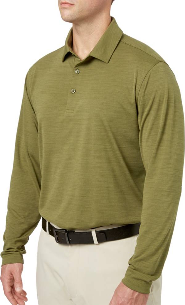 Walter Hagen Men's Long Sleeve Heather Golf Polo product image