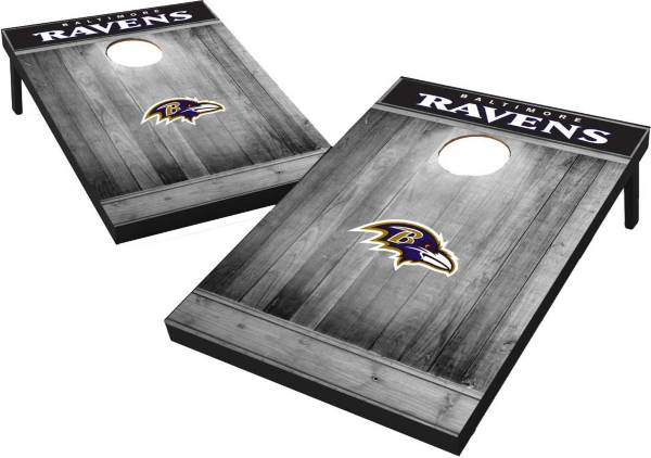 Wild Sports Baltimore Ravens Grey Wood Tailgate Toss product image