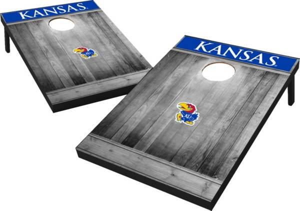 Wild Sports Kansas Jayhawks NCAA Grey Wood Tailgate Toss product image