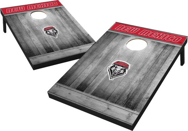 Wild Sports New Mexico Lobos NCAA Grey Wood Tailgate Toss product image