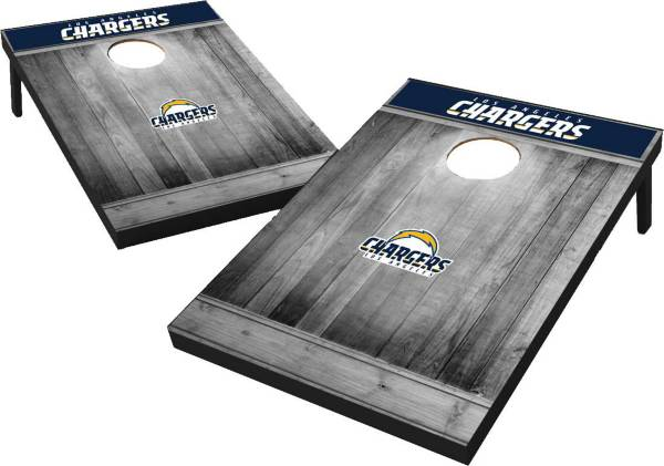 Los Angeles Chargers Grey Wood Tailgate Toss product image