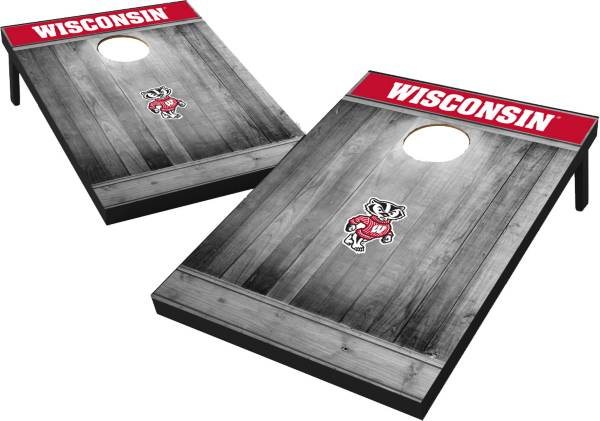 Wild Sports Wisconsin Badgers NCAA Grey Wood Tailgate Toss product image