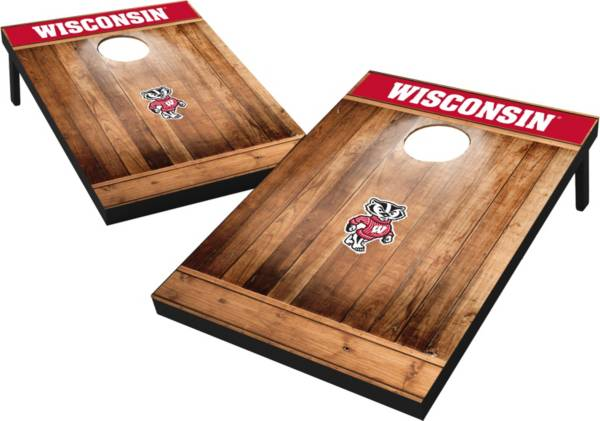 Wild Sports Wisconsin Badgers NCAA Brown Wood Tailgate Toss product image