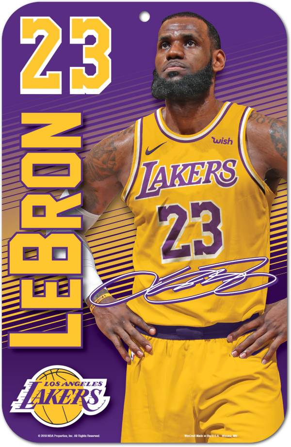 WinCraft Los Angeles Lakers LeBron James Sign product image