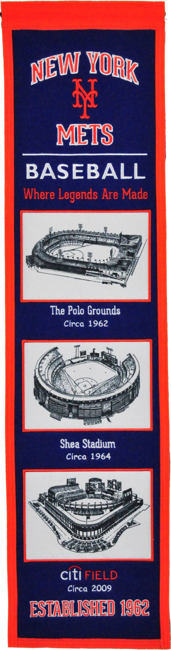 Winning Streak Sports New York Mets Stadium Evolution Banner product image