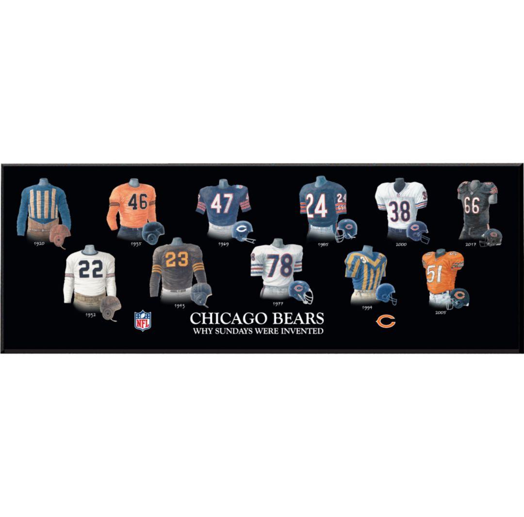 newest 9ed60 6ec22 Winning Streak Sports Chicago Bears Team Uniform Evolution Plaque