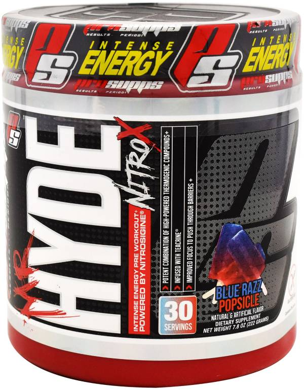 ProSupps Mr. Hyde NitroX Pre-Workout Blue Razz Popsicle product image