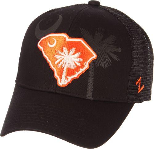 6b1facb0a4f Zephyr Men s Clemson Tigers State Flag Adjustable Black Hat