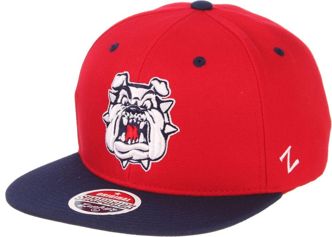 5f2c2dd25c5d Zephyr Men's Fresno State Bulldogs Cardinal/Blue Script Adjustable Snapback  Hat