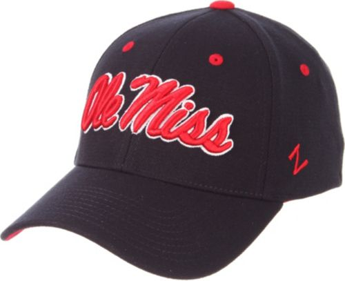 sports shoes 024ae 8cdac Zephyr Men s Ole Miss Rebels Blue ZH Stretch Fit Hat. noImageFound. Previous