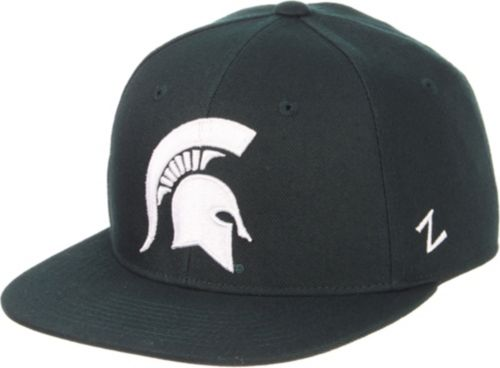 Zephyr Men s Michigan State Spartans Green M15 Fitted Hat  27834d75e10