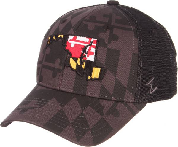 Zephyr Men's Maryland Terrapins 'Maryland Pride' State Adjustable Black Hat product image