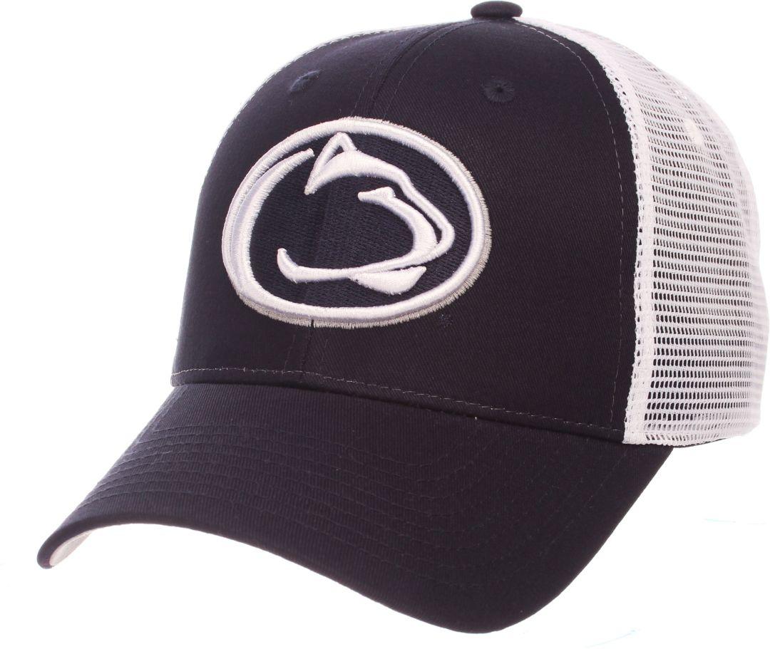 big sale 4591d 27244 Zephyr Men s Penn State Nittany Lions Blue White Big Rig Adjustable Hat