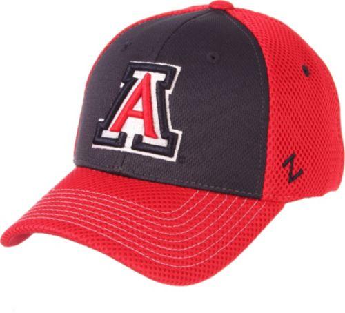 9377c9ad94f Zephyr Men s Arizona Wildcats Navy Red Restitch Fitted Hat. noImageFound.  Previous