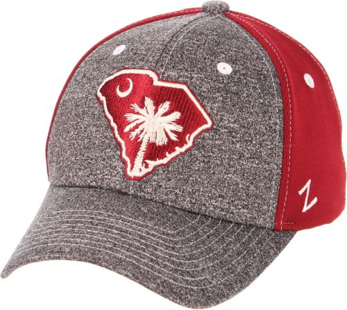 5f3c4cf8598 Zephyr Men s South Carolina Gamecocks Grey Garnet State Flag Adjustable Hat