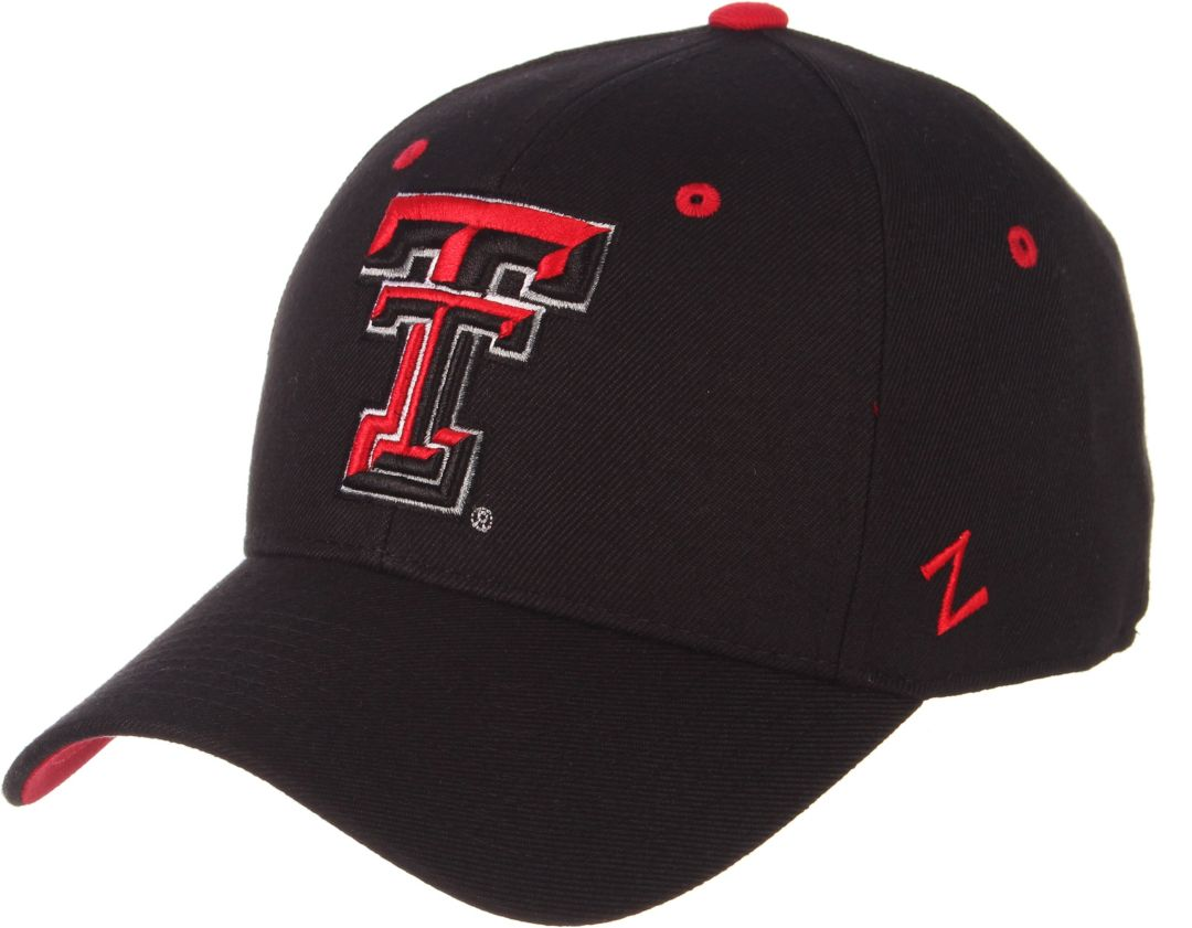 Zephyr Men's Texas Tech Red Raiders DH Fitted Black Hat