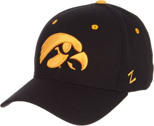 Zephyr Men's Iowa Hawkeyes DH Fitted Black Hat product image