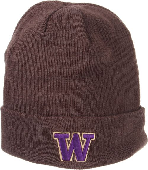 detailed look 9b309 15162 Zephyr Men s Washington Huskies Grey Cuffed Knit Beanie. noImageFound.  Previous