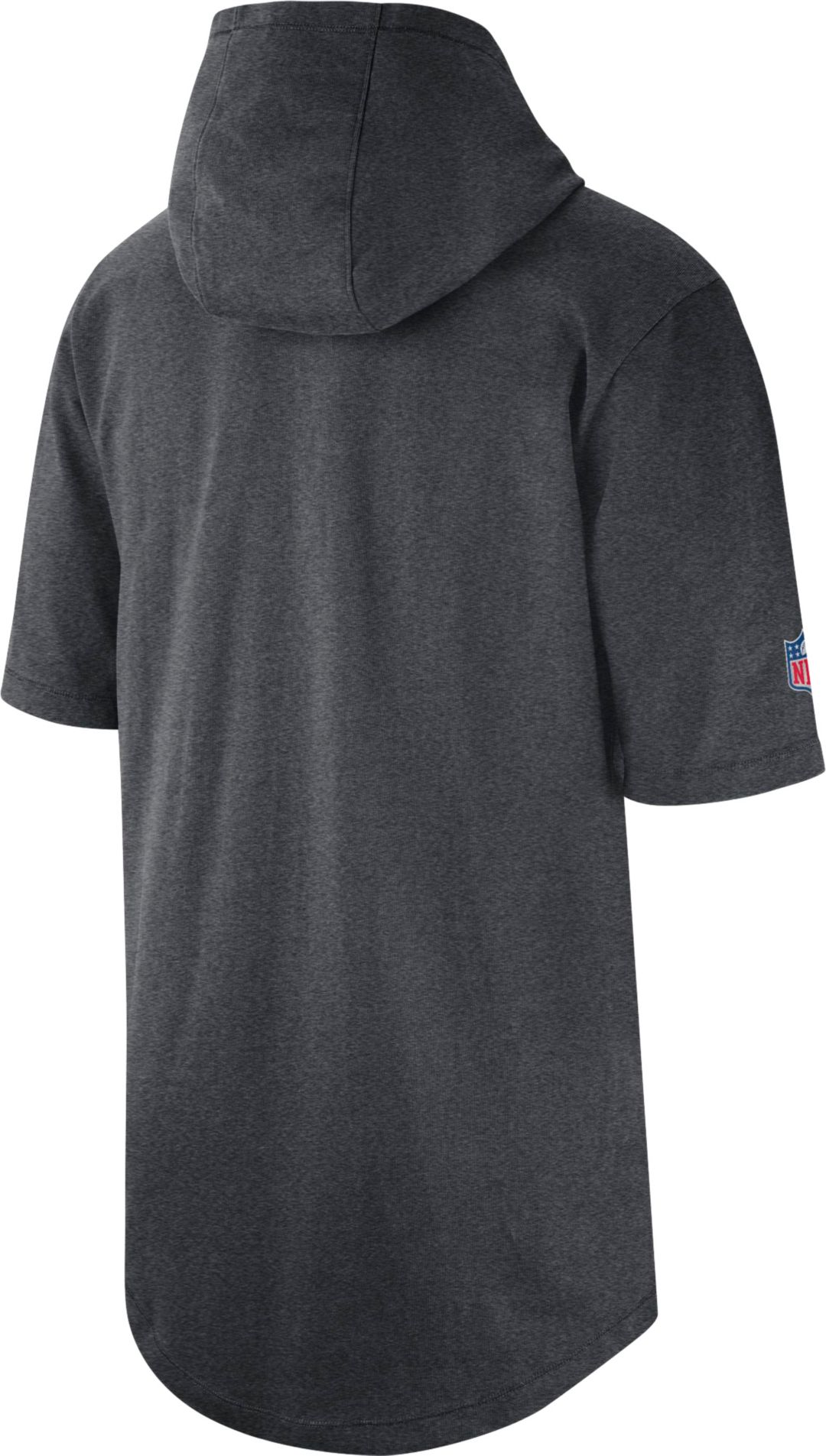 info for 1a743 d3be6 Nike Men's Dallas Cowboys Sideline Charcoal Short-Sleeve Hoodie T-Shirt