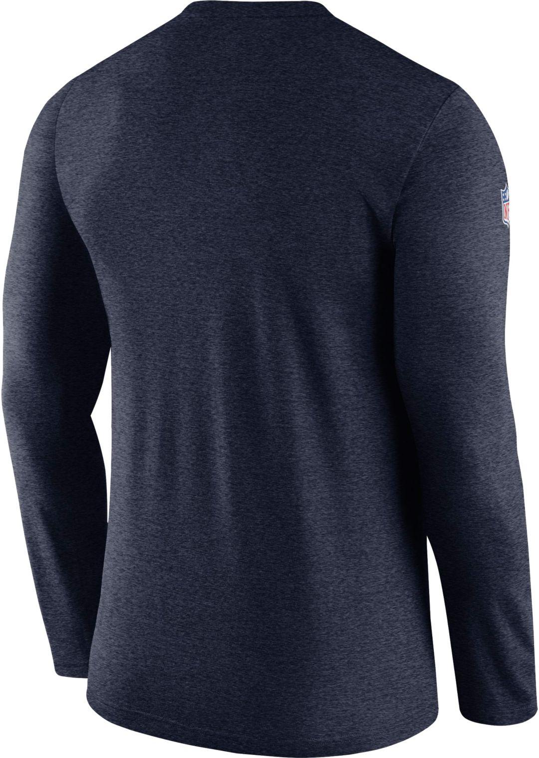 998d448d Nike Men's Dallas Cowboys Sideline Coach Performance Navy Long Sleeve Shirt