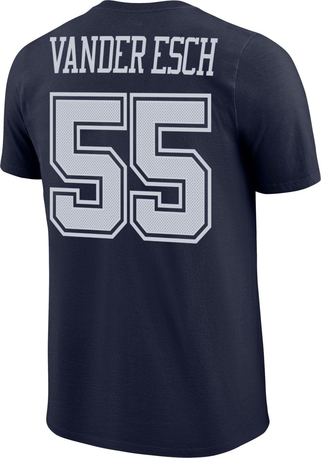 check out 64b39 57788 Nike Men's Dallas Cowboys Leighton Vander Esch #55 Logo Navy T-Shirt