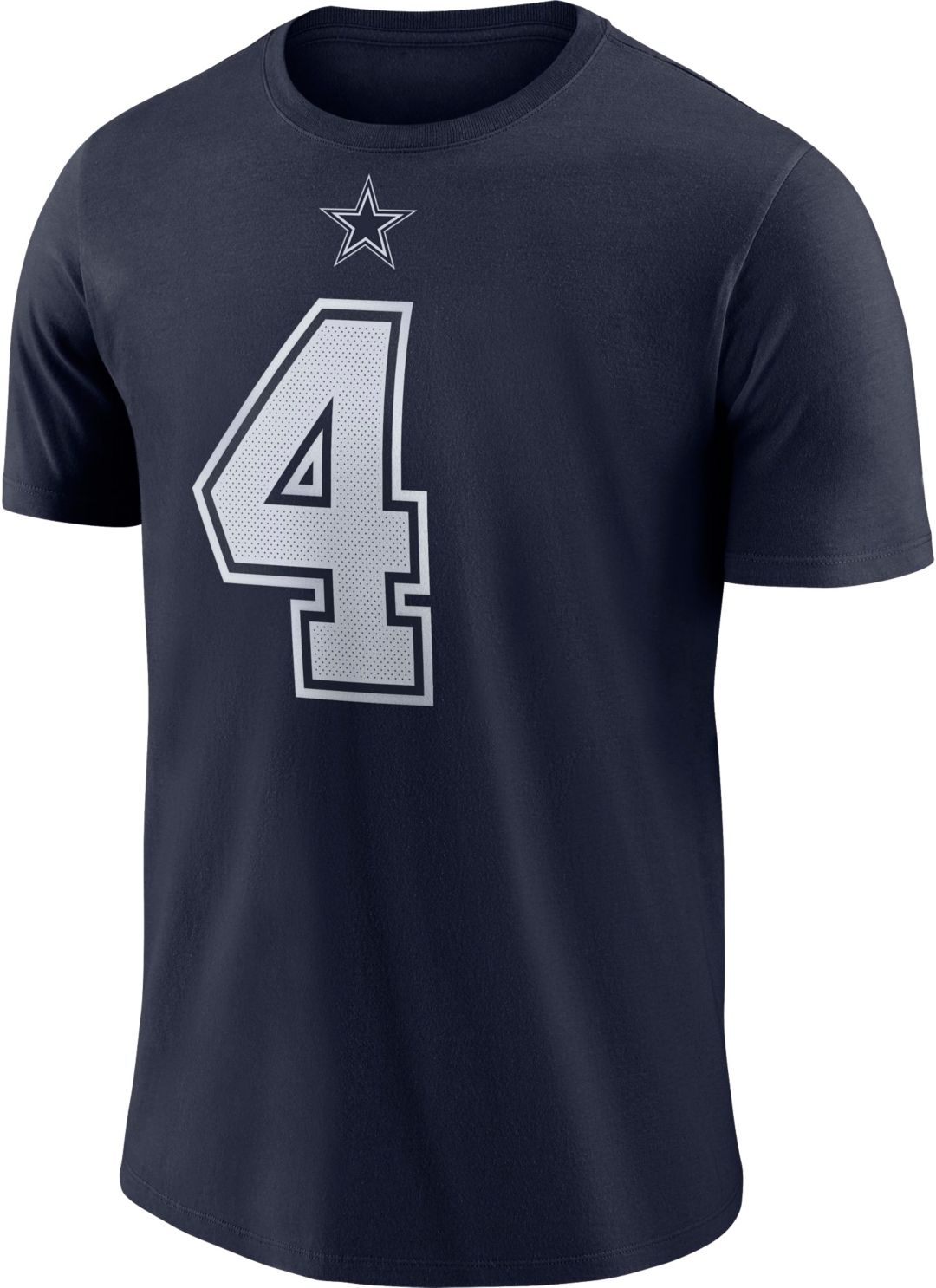 wholesale dealer 1558e ca3fc Nike Youth Dallas Cowboys Dak Prescott #4 Logo Navy T-Shirt