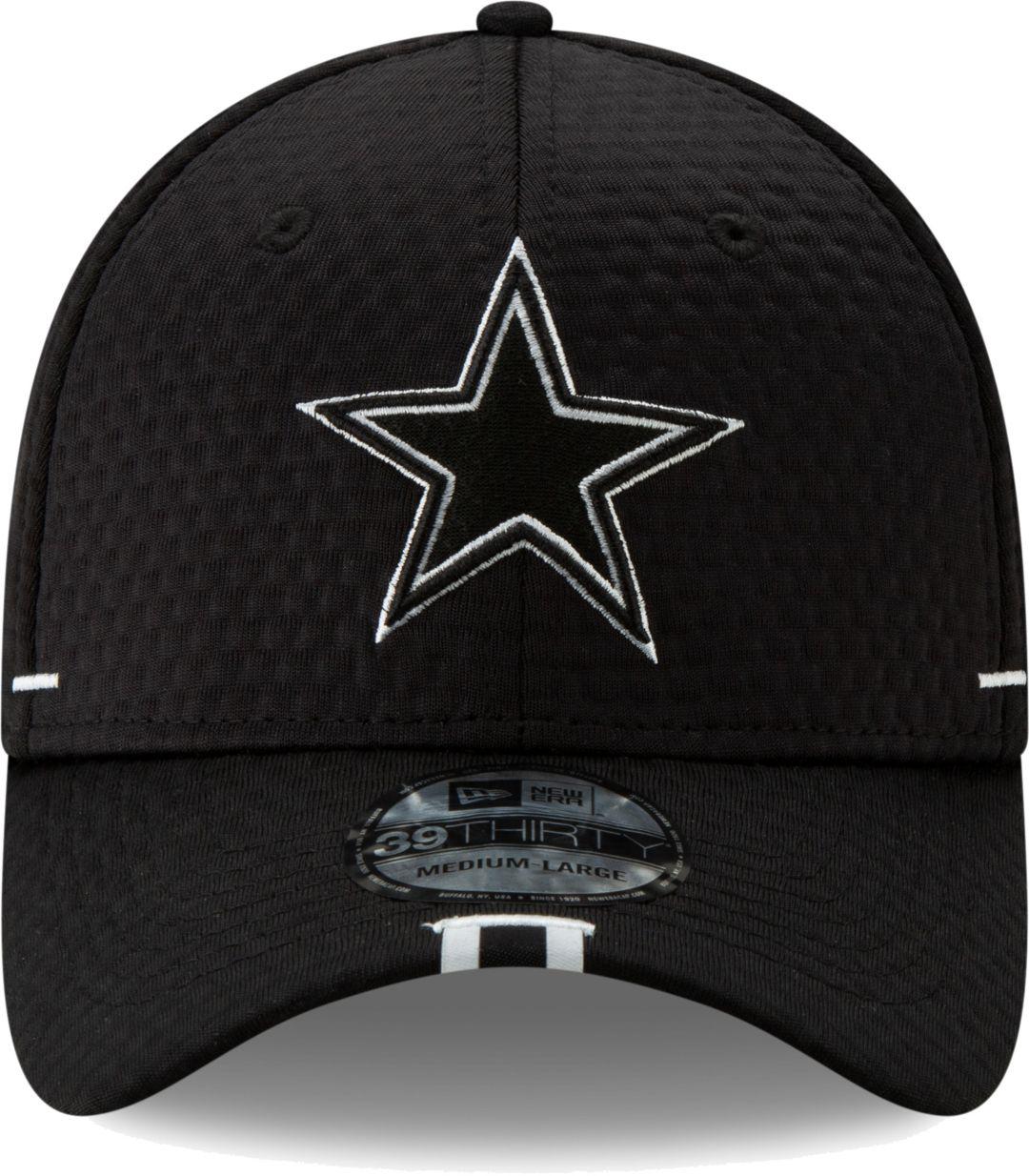 1b965f818a3a24 New Era Men's Dallas Cowboys Sideline Training Camp 39Thirty Stretch Fit  Black Hat