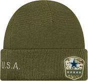 New Era Men's Salute to Service Dallas Cowboys Olive Cuffed Knit product image