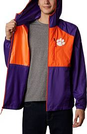 Columbia Men's Clemson Tigers Purple Flash Forward Full-Zip Jacket product image