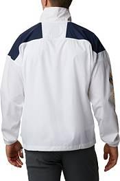 Columbia Men's West Virginia Mountaineers Santa Ana Quarter-Zip Anorak White Jacket product image