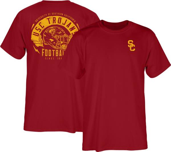 USC Authentic Apparel Men's USC Trojans Cardinal Bundy Helmet T-Shirt product image