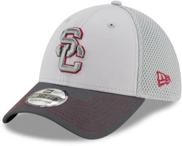 New Era Men's USC Trojans Grey Neo Flexfit Hat product image