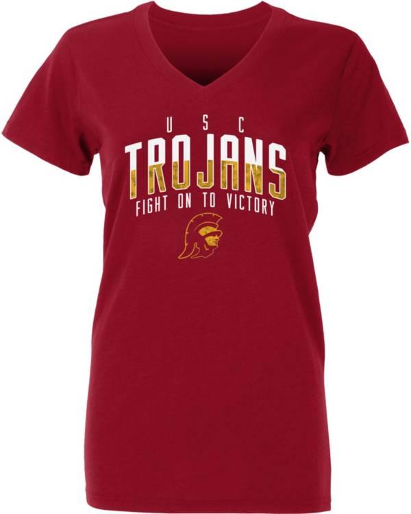 USC Authentic Apparel Youth USC Trojans Cardinal Amara V-Neck T-Shirt product image