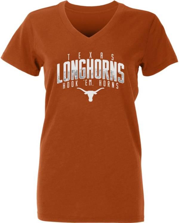 University of Texas Authentic Apparel Youth Texas Longhorns Burnt Orange Amara V-Neck T-Shirt product image