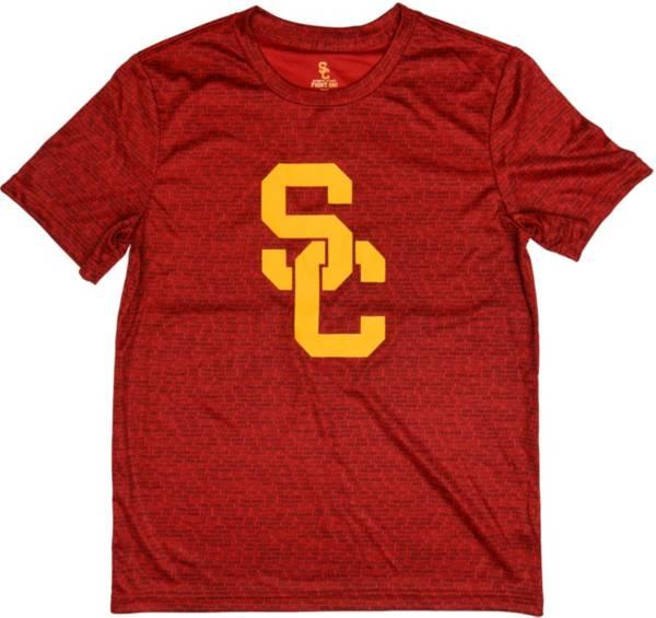 USC Authentic Apparel Youth USC Trojans Cardinal Sublimation T-Shirt product image