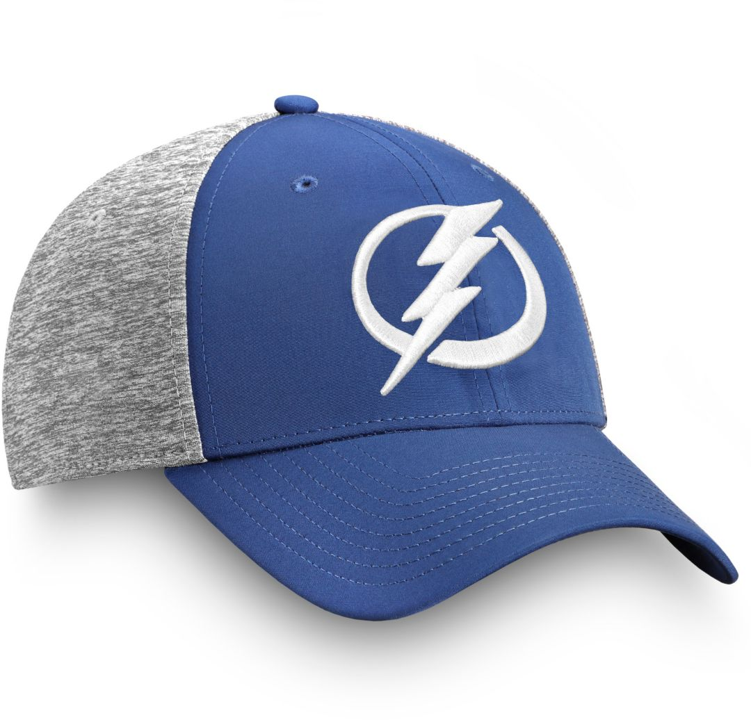 hot sale online 7dac7 f0b13 NHL Men s Tampa Bay Lightning Logo Blue Flex Hat 3