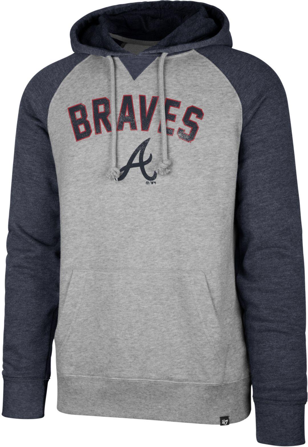 premium selection 4e684 3c4ac '47 Men's Atlanta Braves Raglan Pullover Hoodie