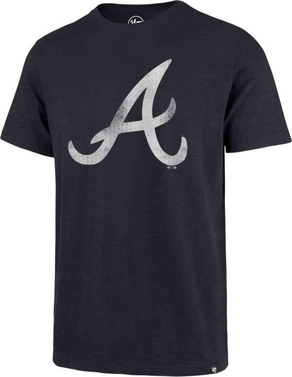 '47 Men's Atlanta Braves Navy Scrum T-Shirt product image