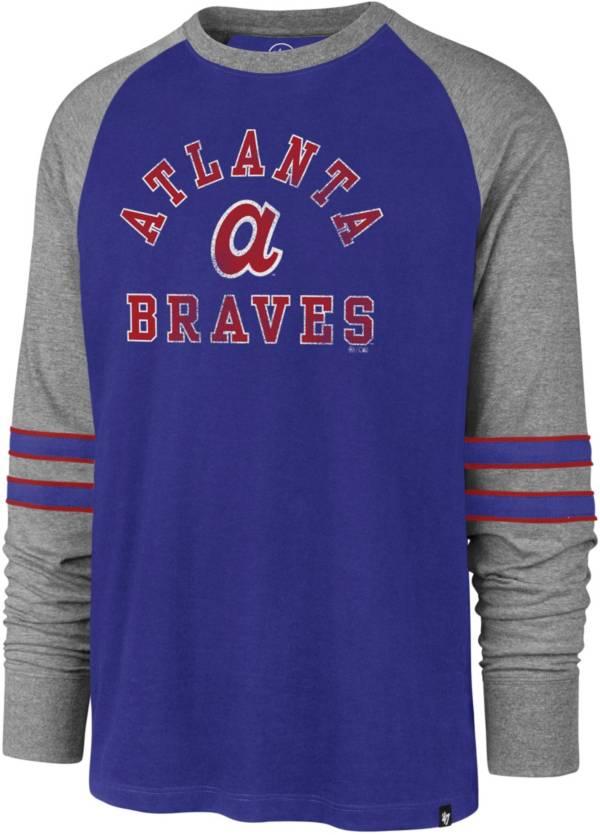 '47 Men's Atlanta Braves Royal Wind-up Raglan Long Sleeve Shirt product image